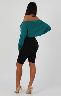 Jade Oversized Crop Knit Jumper - Toni