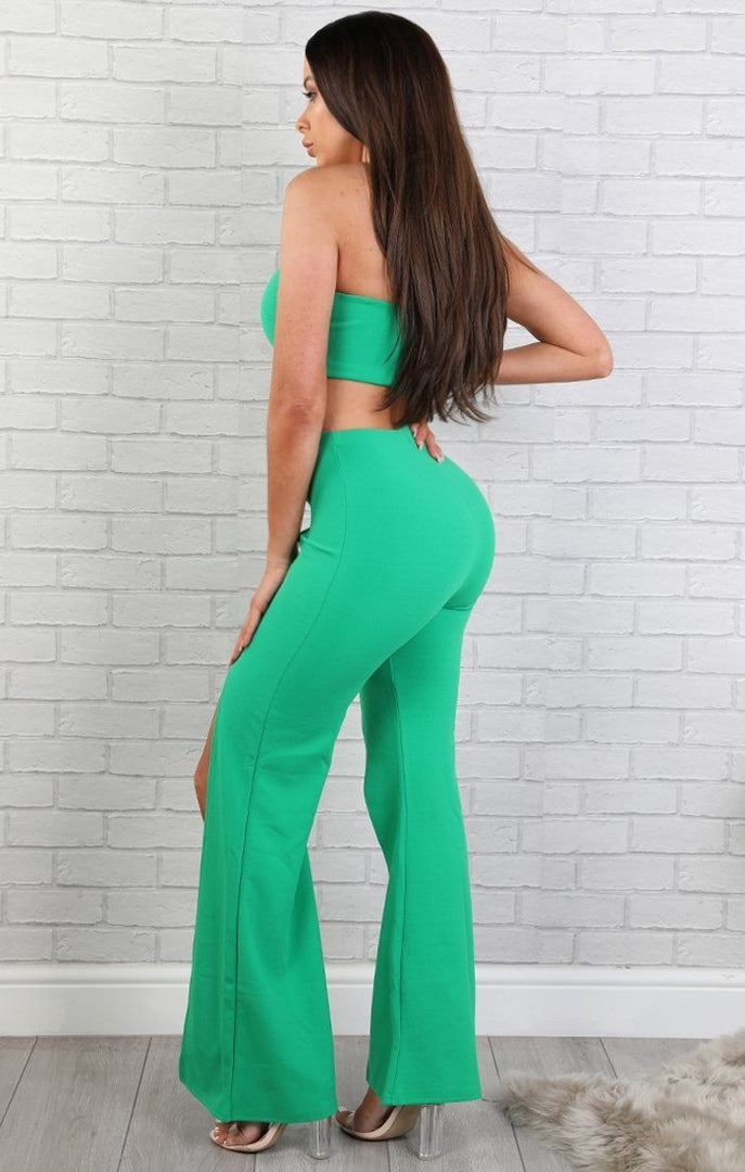 Green Zipper Two Piece Set - Arabella