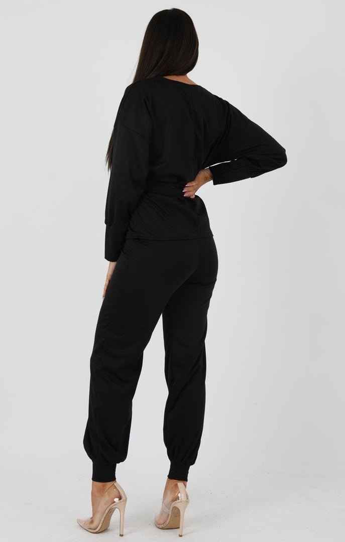 Black-Boxy-Long-Sleeved-Tie-Loungewear-Set-Leah
