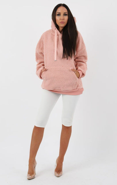 Rose Teddy Hooded Jumper - Scarlett