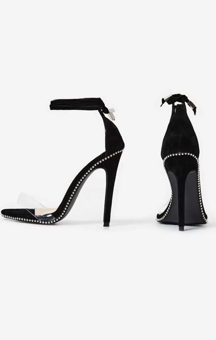 Studded-Lace-Up-Perspex-Heel-In-Black-Faux-Suede
