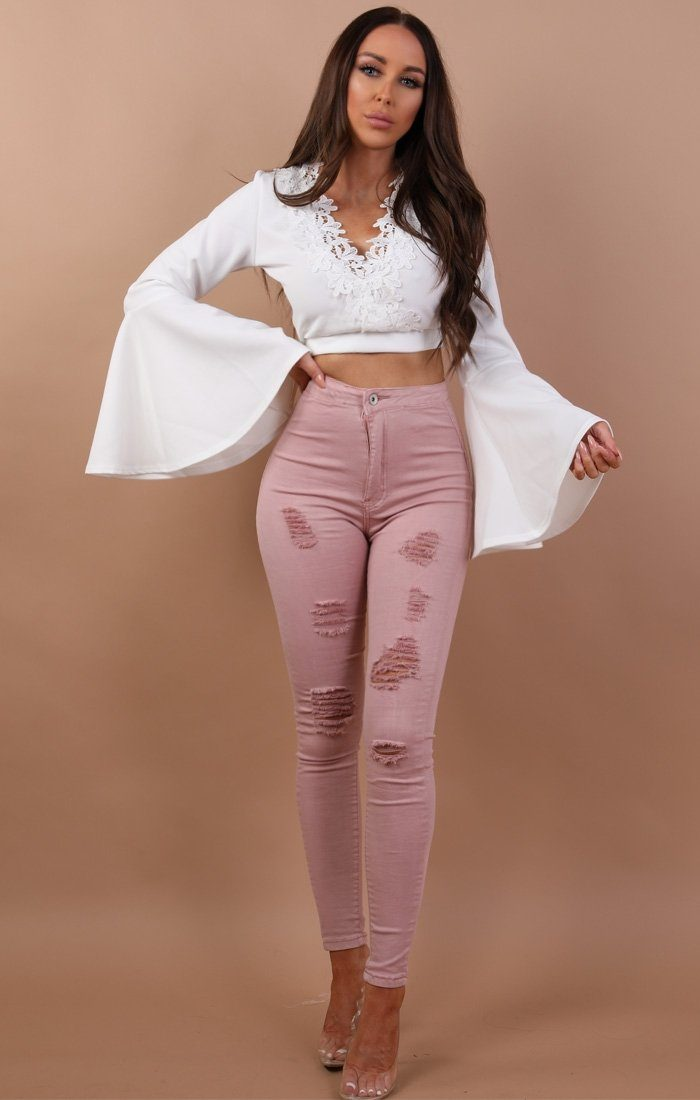 Rose Distressed Skinny Jeans - Pippa