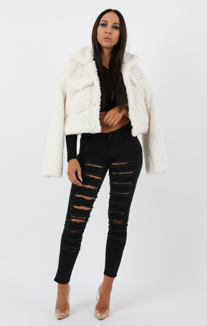 Black Extreme Ripped Skinny Jeans - Elouise
