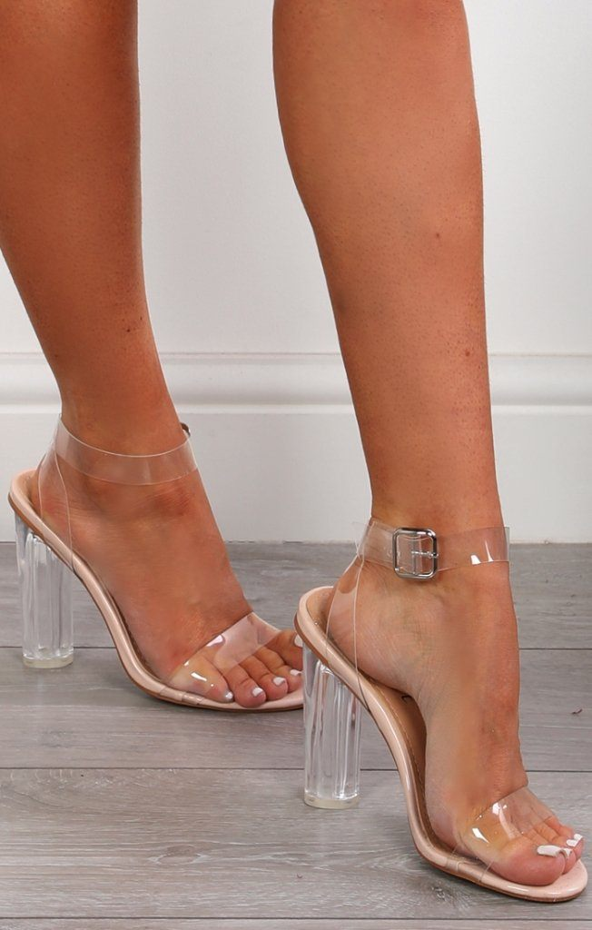 a76af13049ca6d Perspex Barely There Heels