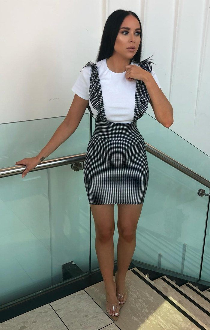 Gingham Frill Pinafore - Layla