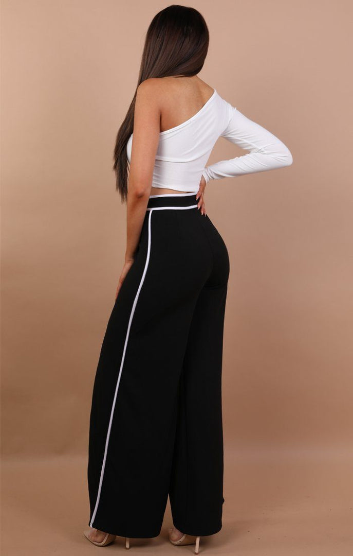 Black-with-White-Contrast-Split-Leg-Trousers