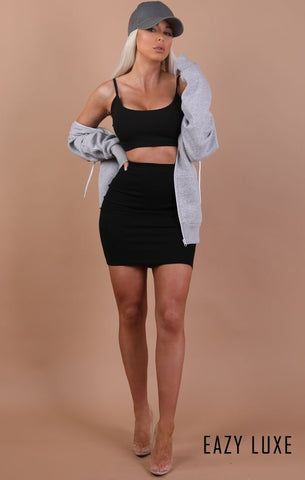 Black Bodycon Mini Skirts