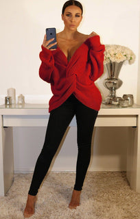 RED-FRONT-WRAP-KNITTED-JUMPER