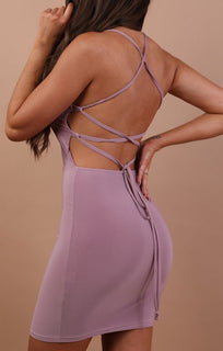 lilac-slinky-lace-up-bodycon-dress-Courtney