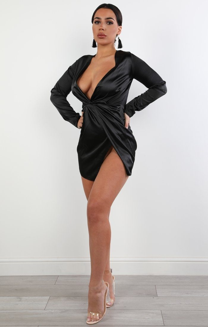 black-satin-wrap-dress-ivy