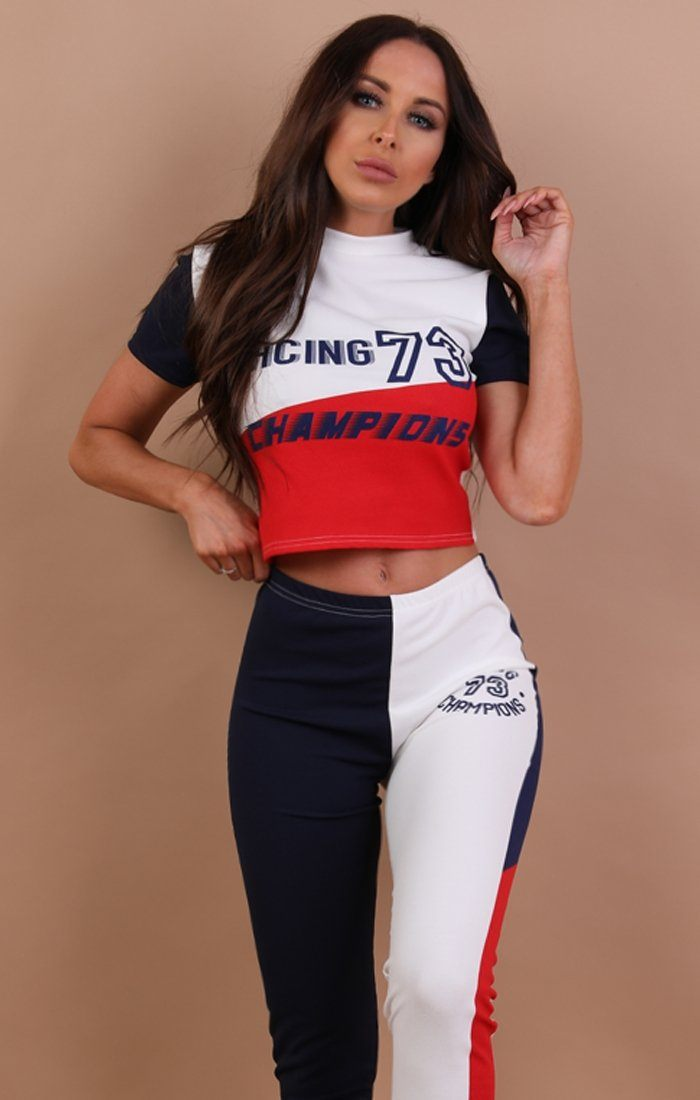White Racing Champion Loungewear Set - Zuri