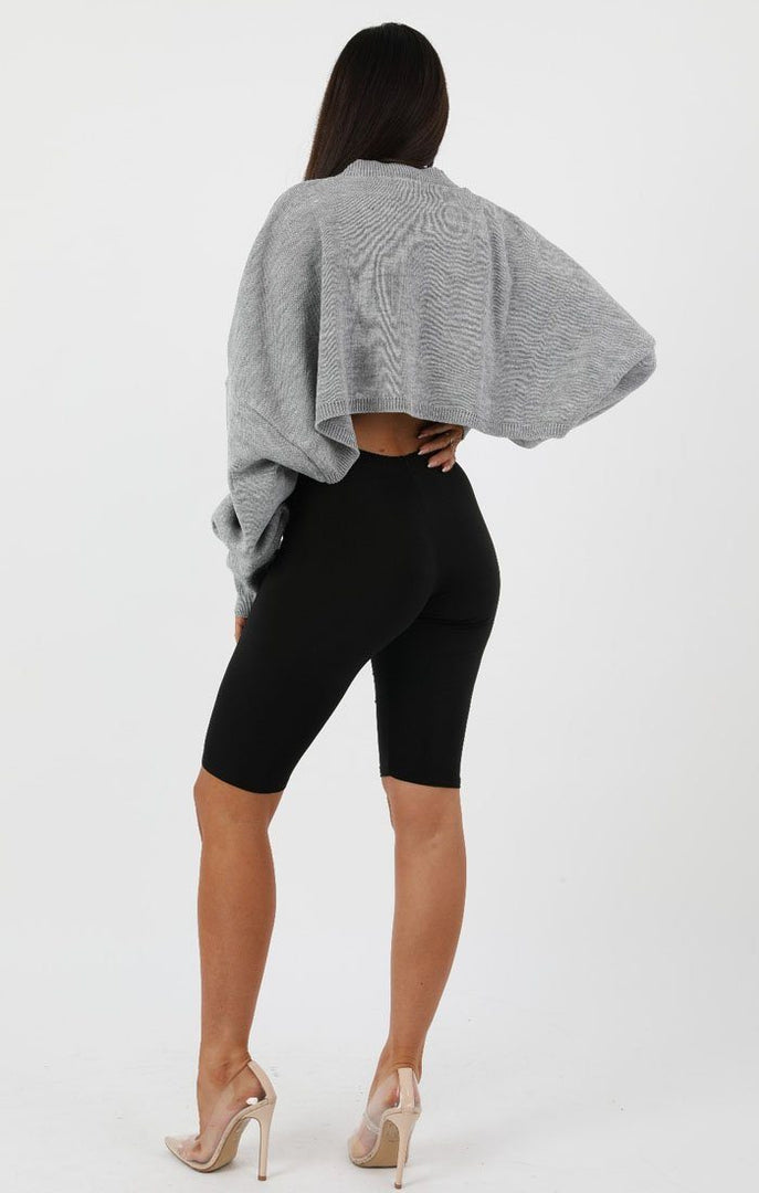Grey-Ribbed-Knit-Crop-Jumper-Jaya
