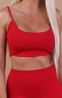 Red Cami Basic Crop Top – Mollie