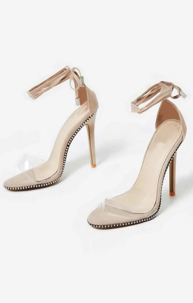 Studded-Lace-Up-Perspex-Heel-In-Nude-Faux-Suede