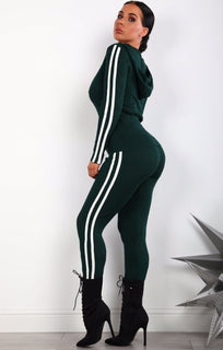 GREEN-STRIPE-DETAIL-RIBBED-LOUNGEWEAR-SET