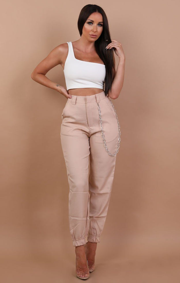 Beige-Cuffed-Chain-Link-Detail-Trousers-Ashley
