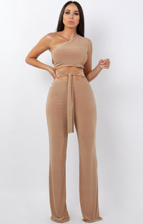 Beige-Tie-Front-One-Shoulder-Jumpsuit-Heather