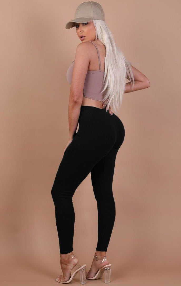 Black Basic Leggings - Grace