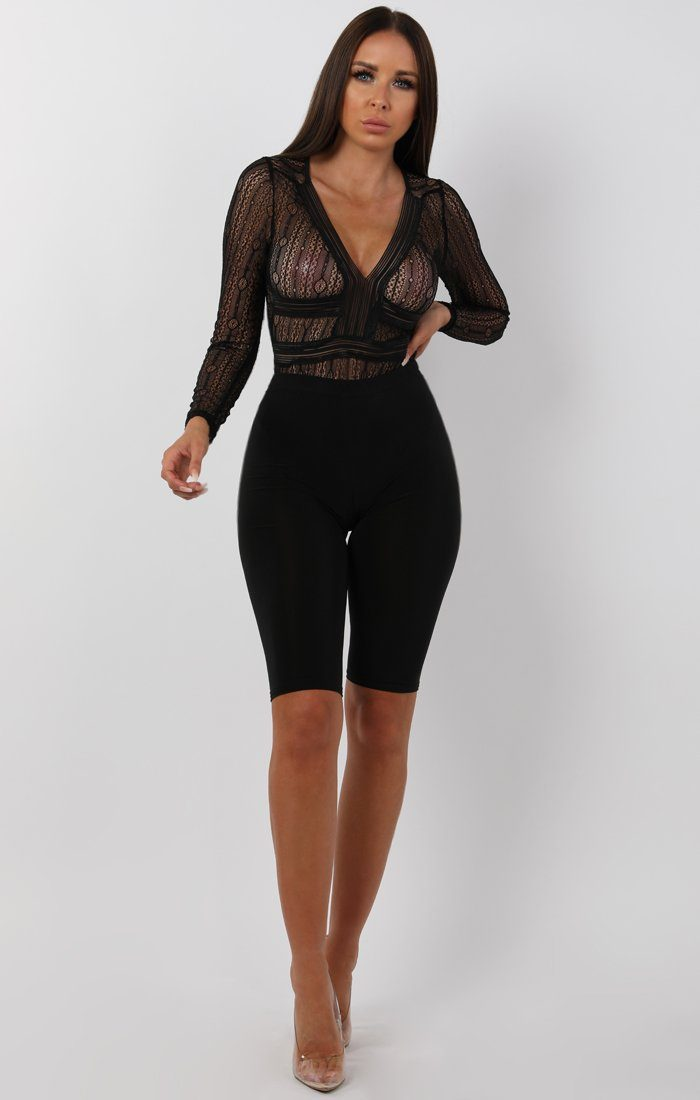 Open Back V-Neck Bodysuit - Renee