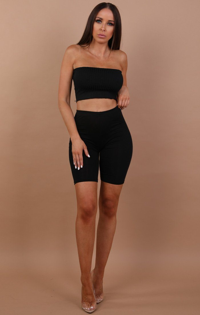 Pleated Bandeau Crop Top - Carla sale FemmeLuxe