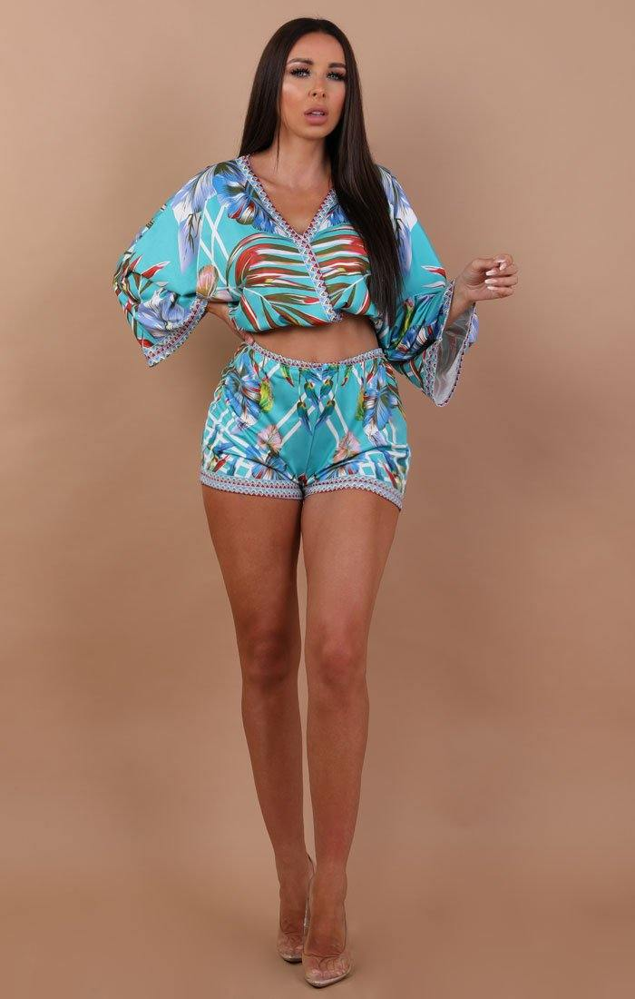 Tropical Two Piece Co-ord Set - Naomi