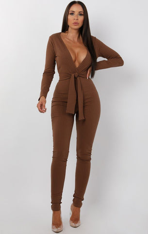 Brown Jumpsuits