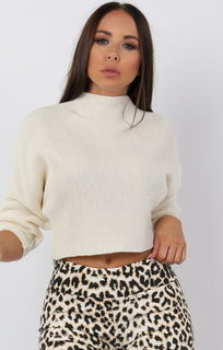 Cream-High-Neck-Cropped-Knit-Jumper-Tatum