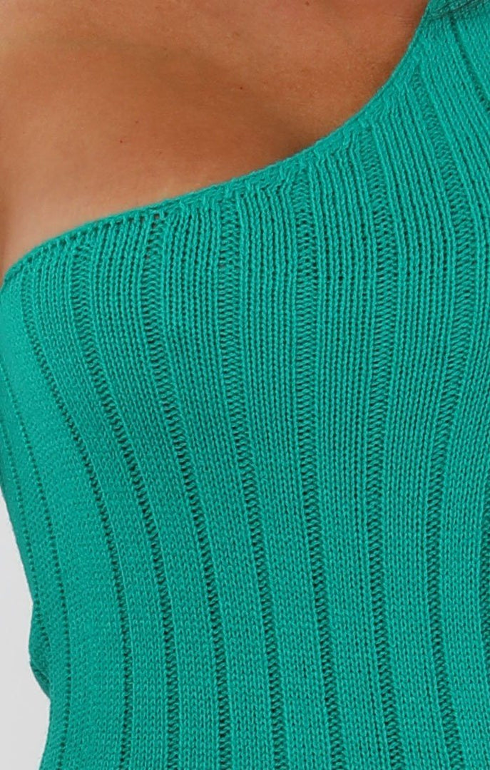 Emerald-Knitted-One-Shoulder-Midi-Dress-Sorcha