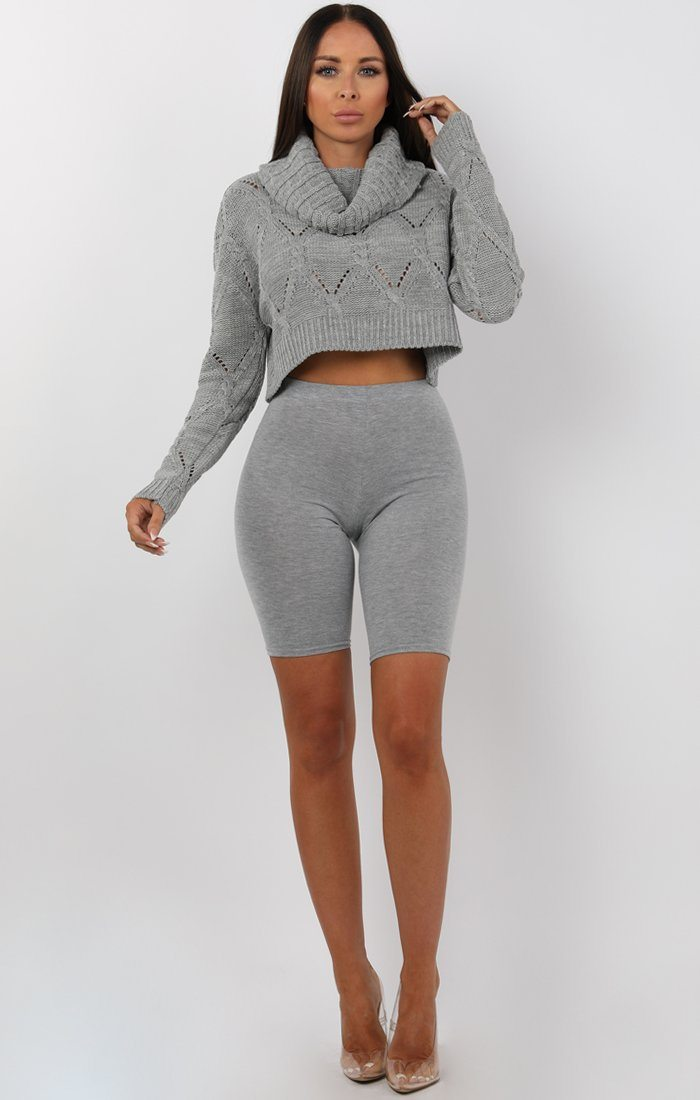 Grey-Cowl-Neck-Knitted-Crop-Jumper-Gemma
