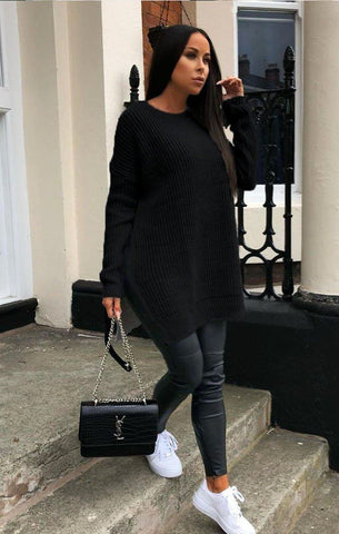Black Oversized Jumpers