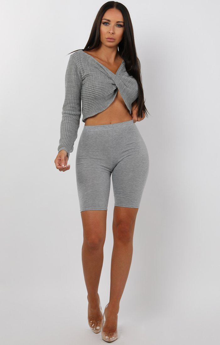 Grey-Twist-Front-Long-Sleeve-Jumper-Lizzy