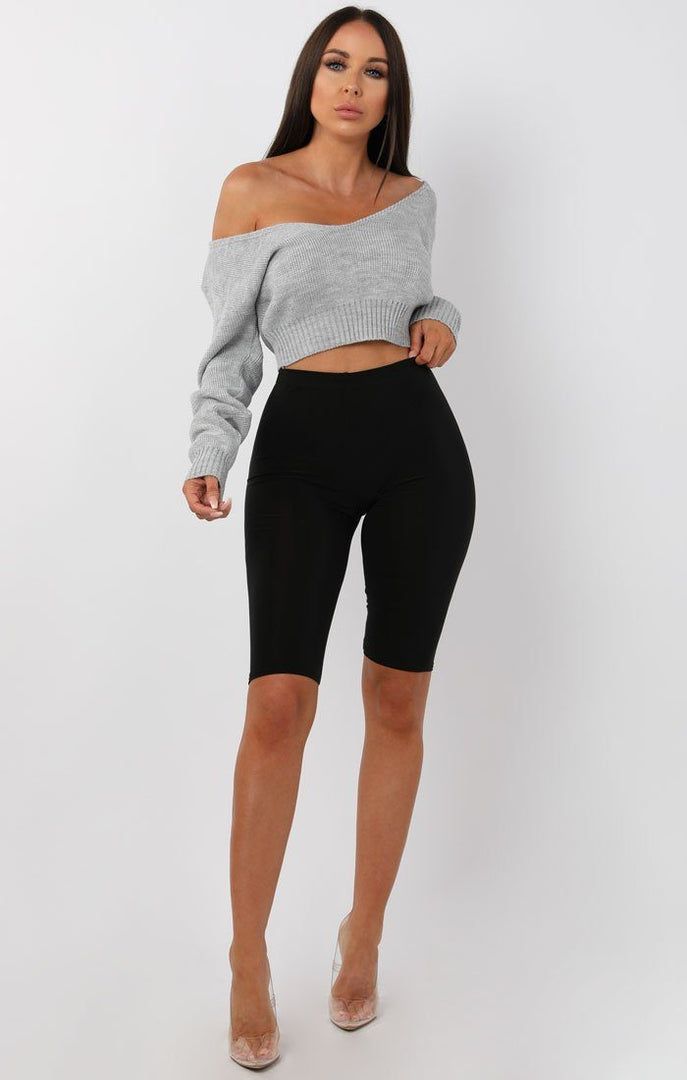 Grey-V-Neck-Cropped-Jumper-Cordelia