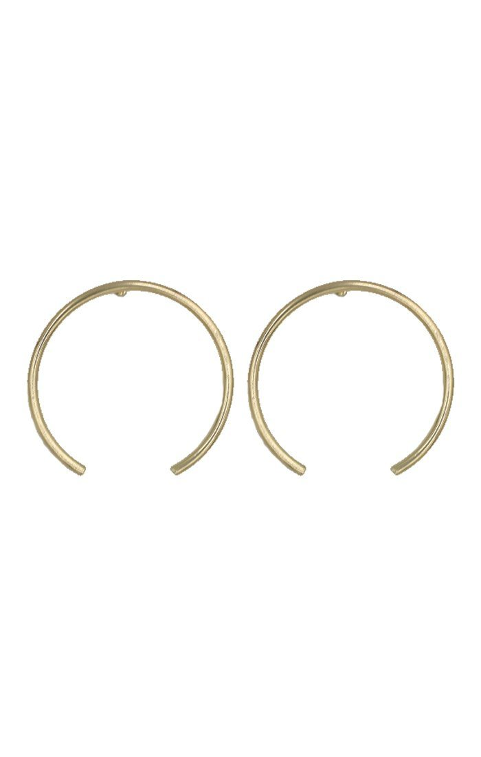 Gold Open Hoop Earring - Saskia