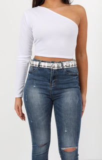 Plaid Circle Buckle Belt - June