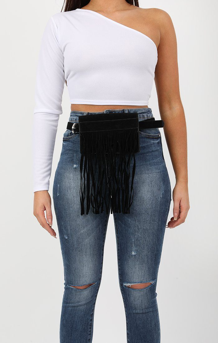 Black Tassel Belt Bag - Dani
