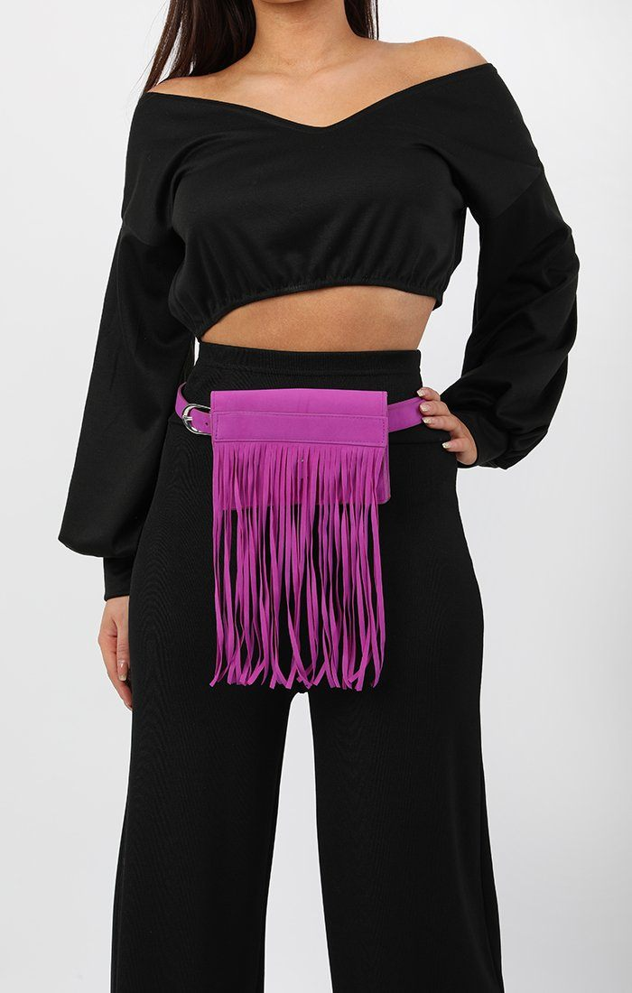 Purple Tassel Belt Bag - Dani