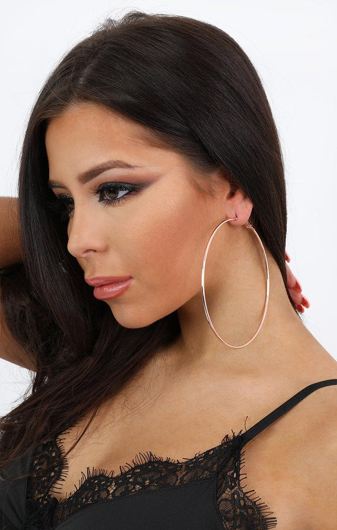 Three Pack Large Hoop Earrings - Sara