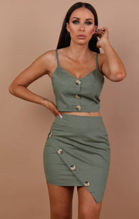 Khaki-button-detail-two-piece-set-kira