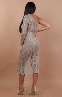 Metallic-Knit-Gold-One-Shoulder-Midi-Dress-Hope