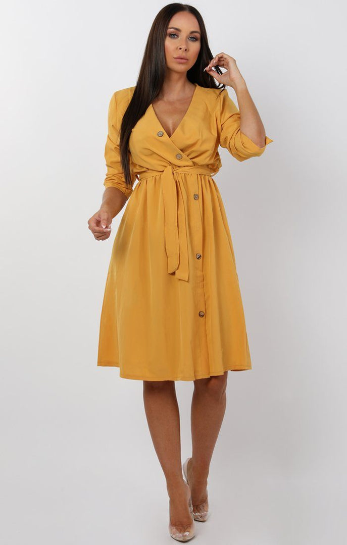 Mustard-Button-Detail-Wrap-Dress-jenna