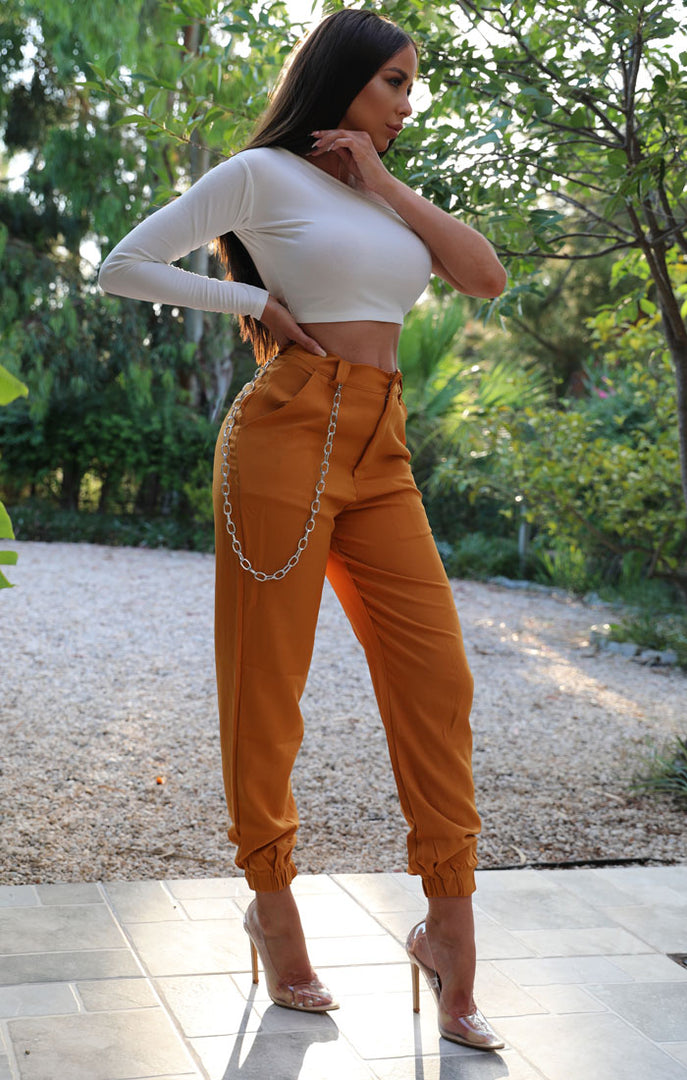 Mustard-Cuffed-Chain-Link-Detail-Trousers-Ashley