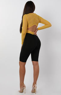 Open Back V-Neck Bodysuit - Renee bodysuits FemmeLuxe