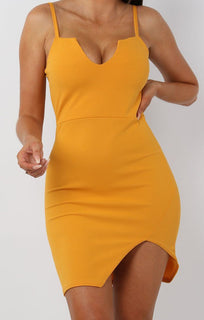 Mustard-V-Bar-Bodycon-Mini-Dress–Aspen