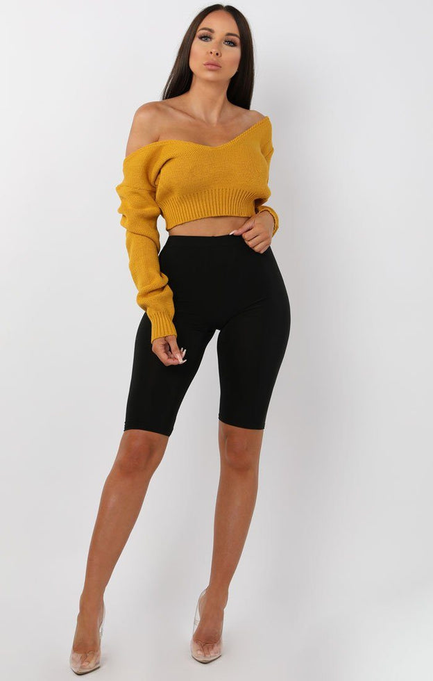 Mustard-V-Neck-Cropped-Jumper-Cordelia