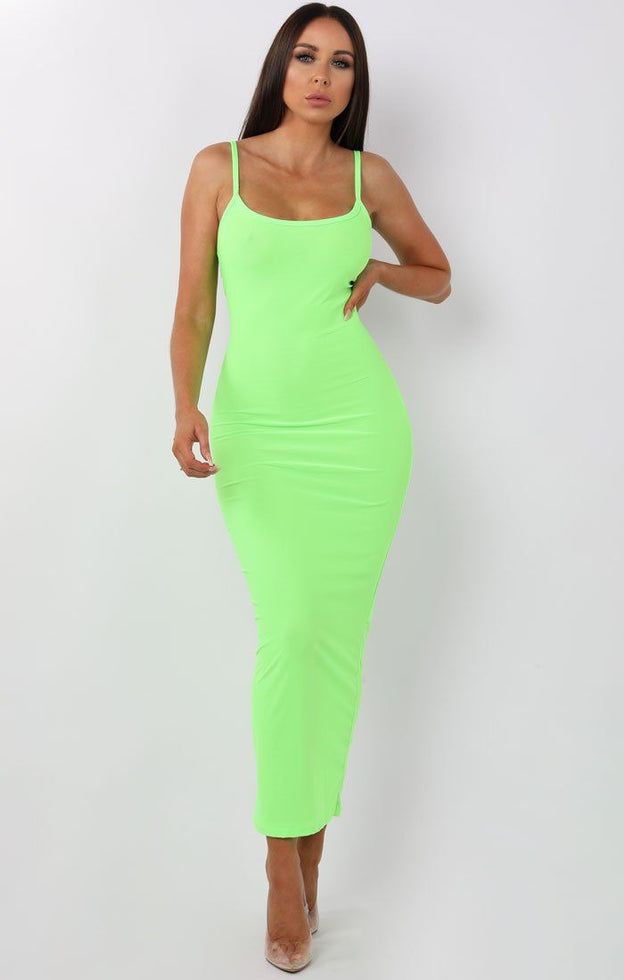 Neon-Green-Cami-Strap-Maxi-Dress-Serenna