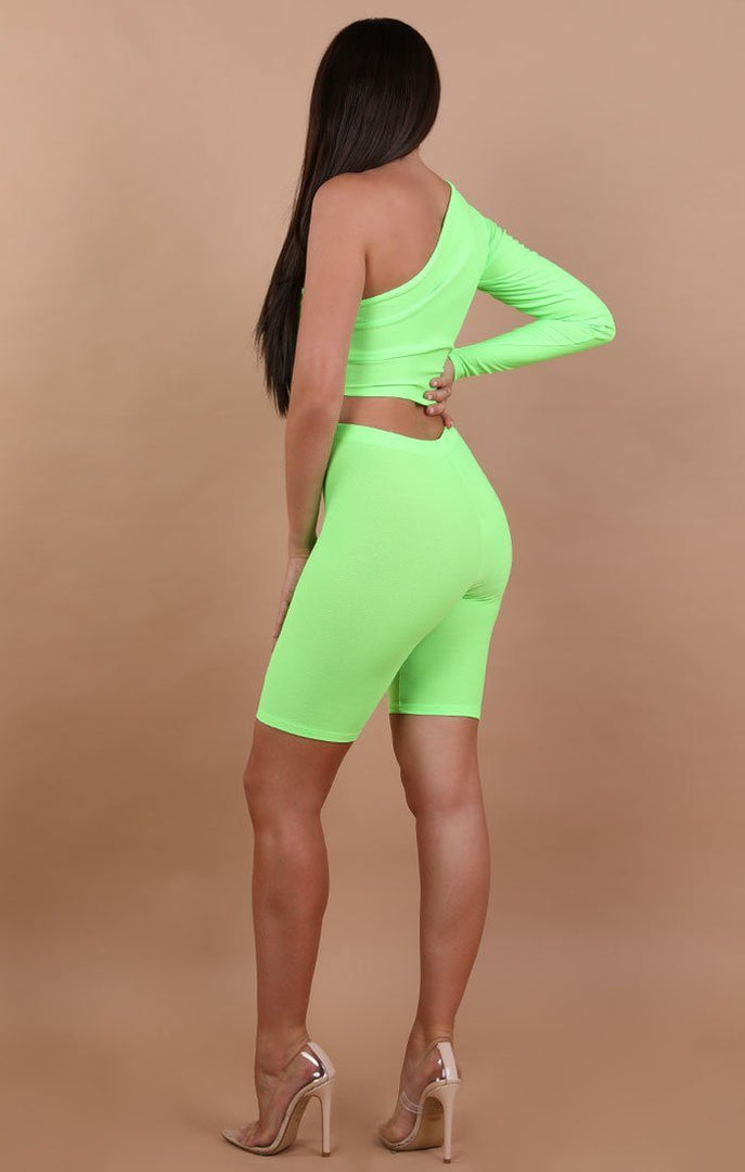 Neon-Green-One-Shoulder-Crop-Top-Lola