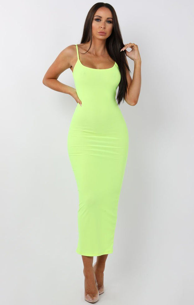 Neon-Yellow-Cami-Strap-Maxi-Dress-Serenna