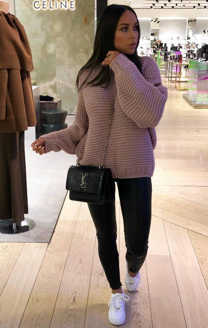 Nude Oversized Chunky Knit Jumper - Claire