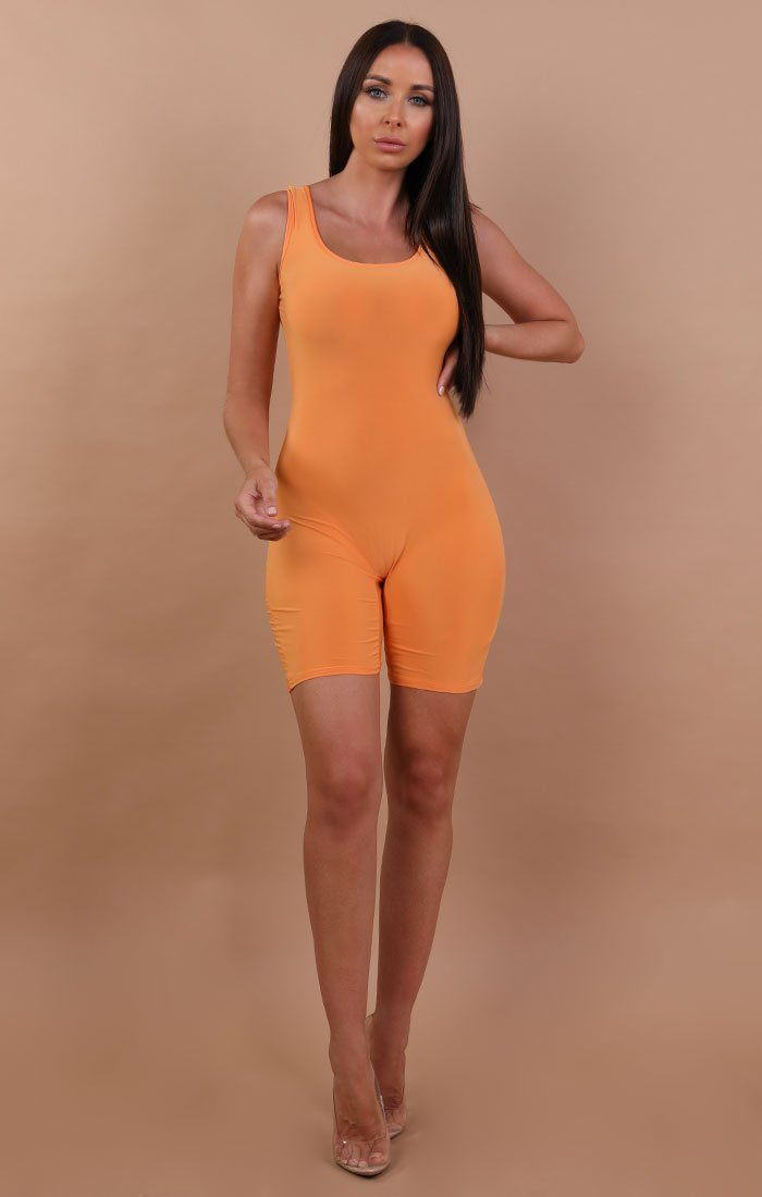 Orange-Basic-Sleeveless-Playsuit-Faith