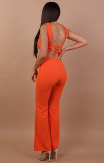 Orange-Flared-Buckle-Detail-Trousers-Siobhan